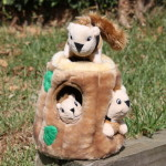 Tree and squirrel dog toy