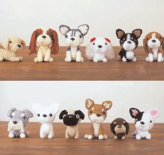 Crochet Patterns Pets : Puppy Tales Japanese Amigurumi Dogs Cute Crochet Dogs