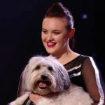 Pudsey and Ashleigh on stage