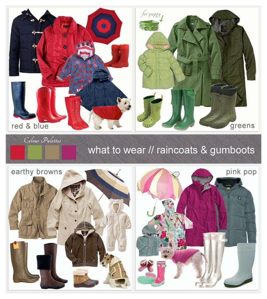 What to Wear - Raincoats & Gumboots