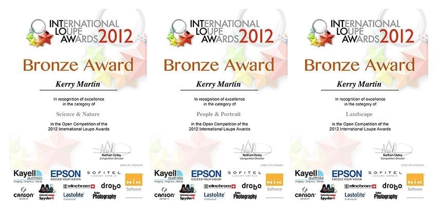 Loupe International Photography Awards Certificates