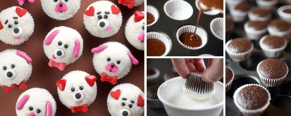 Mini Puppy Cupcakes