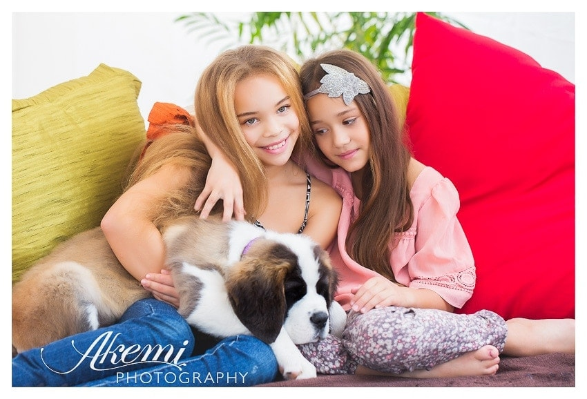 girls-and-puppy-dog-beautiful-family-photography-in-melbourne