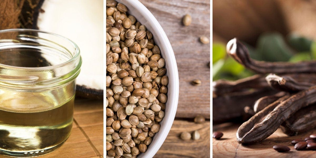 Carob, Chia Seeds and Coconut Oil for your dog's health