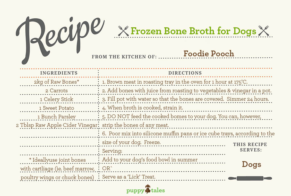 Frozen Bone Broth Recipe for your Dog