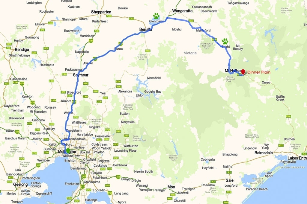 Melbourne to Dinner Plain via the Hume Highway