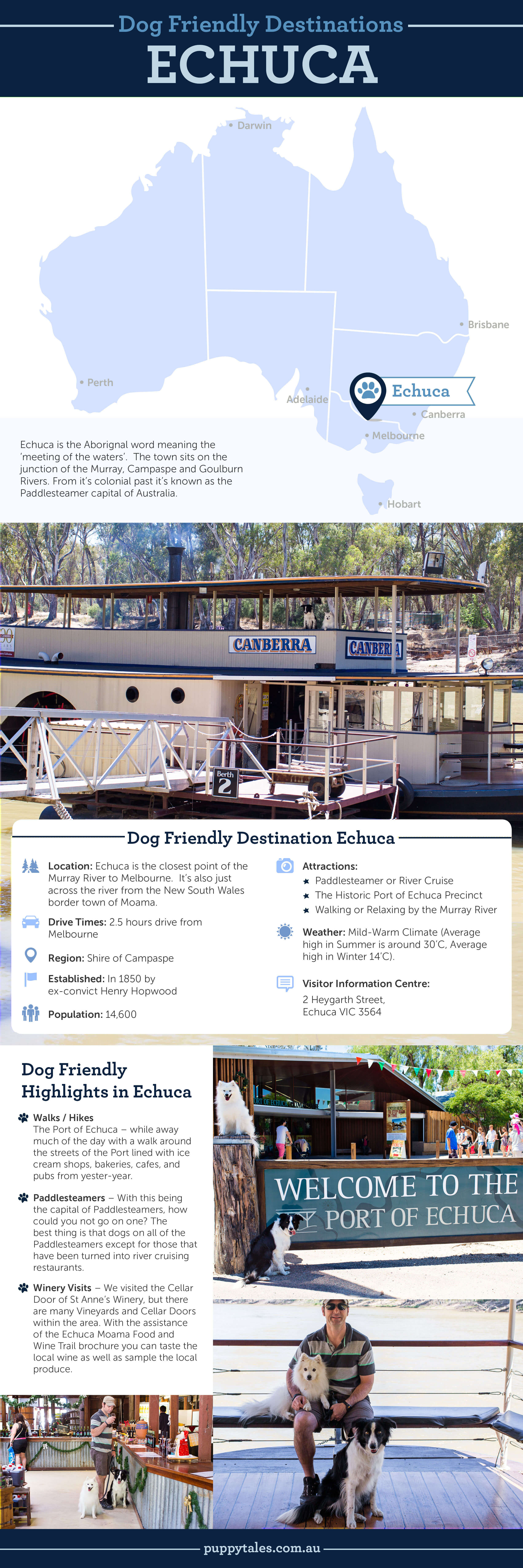 Dog Friendly Destinations ~ Echuca | Puppy Tales