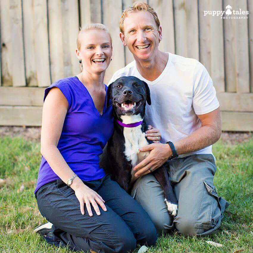 Karen and Dan all smiles with Tux