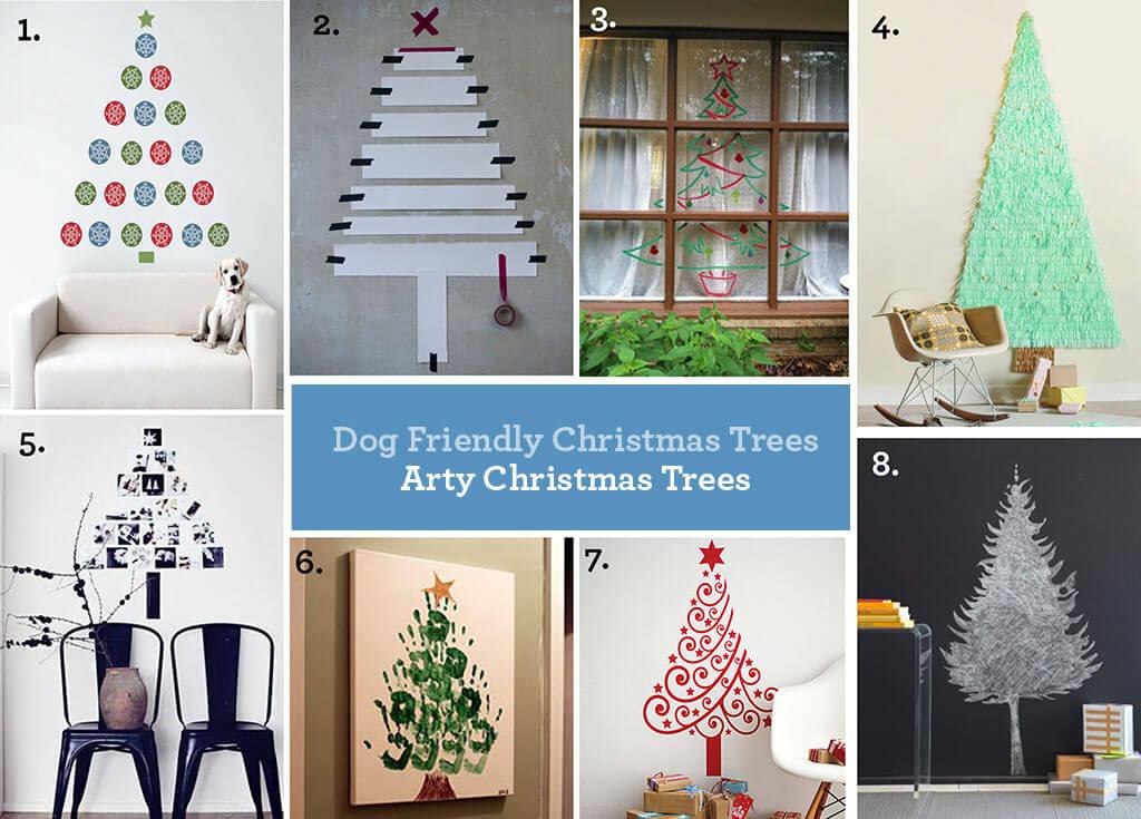 Dog Friendly Christmas Trees ~ Arty Christmas Trees