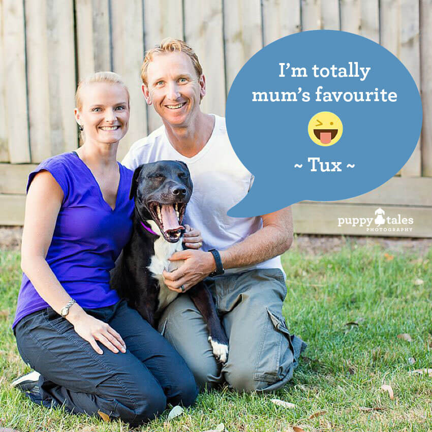 Tux is totally mum's favourite