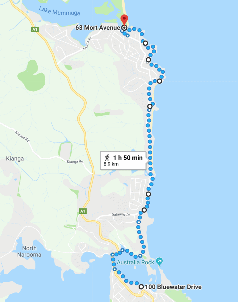 Narooma to Dalmeny Coastal Walk Dog Friendly Walk